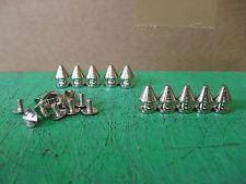 200 X Placa de níquel Metal Acero Spike Tachones artesanía de cuero BIKER BOOTS cinturón Chaqueta