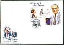 SAO TOME 2013 50th BIRTH ANNIVERSARY GARRY KASPAROV CHESS SOUVENIR SHEET FDC