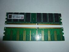 Transcend DIMM CL3 1GB Ram Kit Arbeitsspeicher 2x512 MB DDR 400