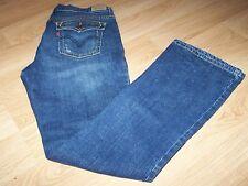 Woman's Size 8 M 515 Boot Cut Levi Strauss Denim Blue Jeans Levi's Dark Distress