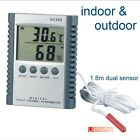 Digital Thermometer & Hygrometer in & outdoor sensor Humidity Meter function