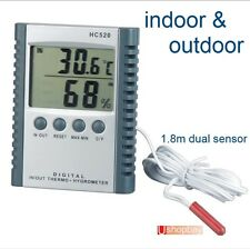 Digital Thermometer & Hygrometer in & outdoor sensor Humidity Meter function