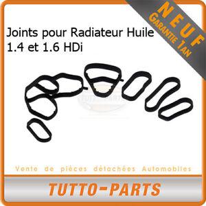 Joints Radiateur d'huile Citroen Peugeot 1.4 1.6 HDi - 1103K2 1103N9 1145941