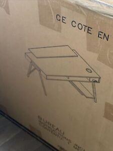 (New) Ashley Furniture's Barolli Gaming Desk (Dark Grey)