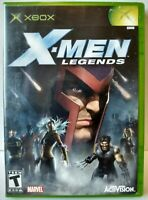 """""""X-Men Legends"""" Microsoft Xbox 2004 Complete With Manual"""
