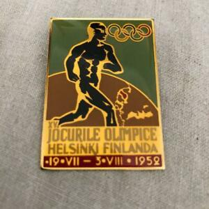 Olympic square badge 1952 Helsinki pattern 4×3.5cm size used Gift Creations inc
