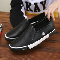 Men's Casual Leather Sneakers Slip On Comfy Sport Shoes Running Trainers Fashion