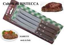 SET 12 COLTELLI BISTECCA tavola manico legno Marietti cucina carne COLTELLO