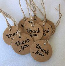Thank You Gift Tags 10x Rustic Wedding Teacher Christmas