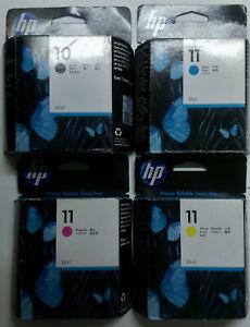 4 x original HP original 10 11 C4844A C4836A C4837A C4838A Set o.V.