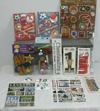 Sports Mixed Lot of Stickers Embellishments scrapbook crafts Best Creation K& Co