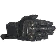 Gants noirs poignet pour motocyclette femme