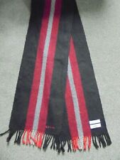 PAUL SMITH STRIPED LAMBSWOOL SCARF MADE IN SCOTLAND