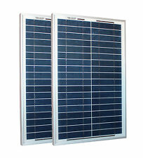 Solarset 50 Watt + 12V Solarladeregler 10A + 2 Dioden poly Solarmodul Solarpanel