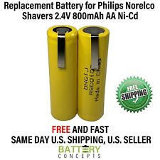 Philips Norelco Electric Shaver Rechargeable Battery 6706X 2.4V 800mAh AA NiCd