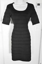 NWT CALVIN KLEIN black SWEATER DRESS sz LARGE !!!