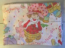 B7 Vintage Strawberry Shortcake Twin Flat Sheet! Nursery Bedding Kids B