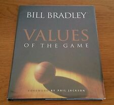 "SIGNED 1998 ""Values Of The Game"" Bill Bradley Phil Jackson Basketball FIRST ED"