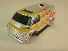 TYCO #8568 CHROME W/YELLOW FLAMES SUPERVAN SHELL ~ EXC COND