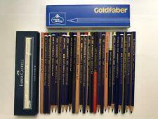 """26 VINTAGE A.W.FABER PENCILS:""""GOLDFABER""""-GRAPHITE/COPYING/COLOR -UNUSED +2 BOXES"""