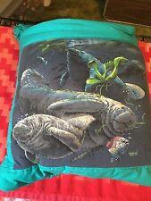 New Handmade Manatees Quillow (Pillow w/ 6ft long quilt inside!)
