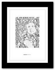 More details for van halen beautiful girls❤ typography quote poster art limited edition print #98