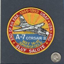 A-7D A-7 CORSAIR II 178th TAC TFS SLUF FAREWELL USAF ANG Vought Squadron Patch