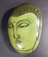 Budda Face On Raw Jade (?) Stone Rock
