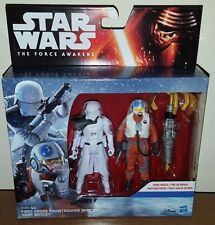 STAR WARS SNAP WEXLEY + SNOWTROOPER OFFICER FORCE AWAKENS ACTION FIGURE 2 PK NEW