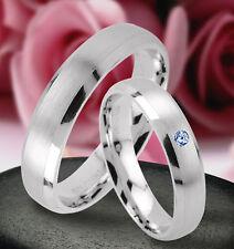 Trauringe  Eheringe Verlobungsringe mit echten Blautopas , Silber 925 , J40-1B