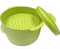 New Tupperware Steam It Cooker Steamer Non Stick Container (2 Tier) Free US Ship