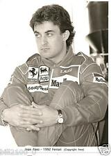 photo.course automobile . F1 Jean Alési . 1992  Ferrari