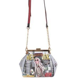 Nicole Lee PRT15155 New York Walk Frame Crossbody Bag