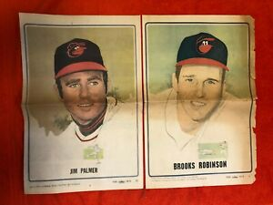 "1971 BALTIMORE ORIOLES NEWSPAPER POSTERS SET  22"" x 14""  BROOKS BOOG PALMER++"