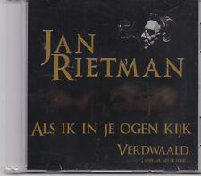 Jan Rietman-Als Ik In Je Ogen Kijk promo cd single