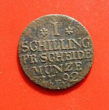 Deutsches Reich: 1 Schilling 1792-E, Preussen-Prussia, #F 2312, extrem rar