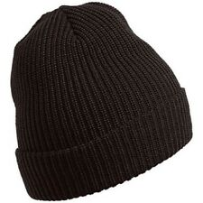 CHAOS Merino Wool Stocking Cap Cuffed Beanie Ski Hat ONE SIZE Men/Women BLACK