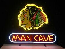 "New Chicago Blackhawks Man Cave Beer Neon Light Sign 17""x14"""