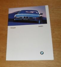 BMW 8 Series Coupe Brochure 1996-1997 - 840 CI