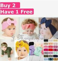Baby Tie Bow Pom Pom Head Wrap Turban Top Knot Headband Newborn Girl Accessories