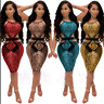 Sexy Women's Sequin Clubwear Bandage Bodycon Evening Party Cocktail Mini Dress