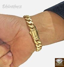 10k Yellow Gold Miami Cuban Royal Link Bracelet 10mm 8 inch Box Lock Real Gold