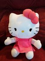 "3f209146c 2010 Sanrio HELLO KITTY Pink Gingham/Plaid Plush 11.5"" | eBay"