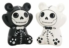 Furry Bones PANDIE Skeleton in Panda Costume Salt & Pepper Shaker Set