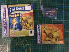 GAME BOY GAMEBOY ADVANCE GBA BOXED BOITE 2 IN 1 GAME PACK SHREK SHARK TALE AGB-B