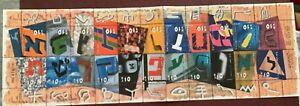 ISRAEL 2000. HEBREW ALPHABET. SG Sheetlet 22 Stamps 1508/1529