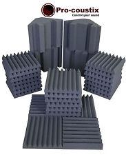 Pro-coustix Ultraflex Studio pack One - 24x Acoustic foam Tiles & 4x Bass Traps