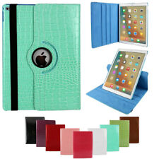 For iPad 2 3 4 Air 1 2 Luxury 360° Rotating Black Cover PU Leather Smart Case
