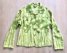 Marimekko Jeansjacke, grün Printed Jeans Jacke, Größe 42, US 12 UK 14