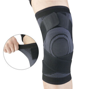 Knee Sleeve Compression Brace Pads Support Sport Joint Pain Arthritis Relief